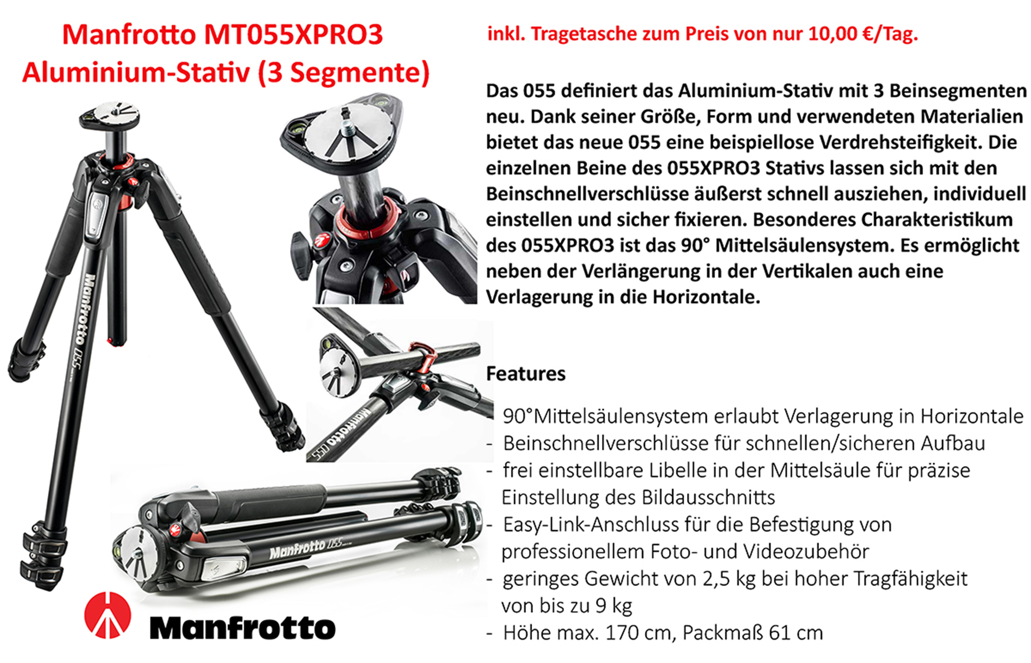 Manfrotto MT055XPRO3 Stativ