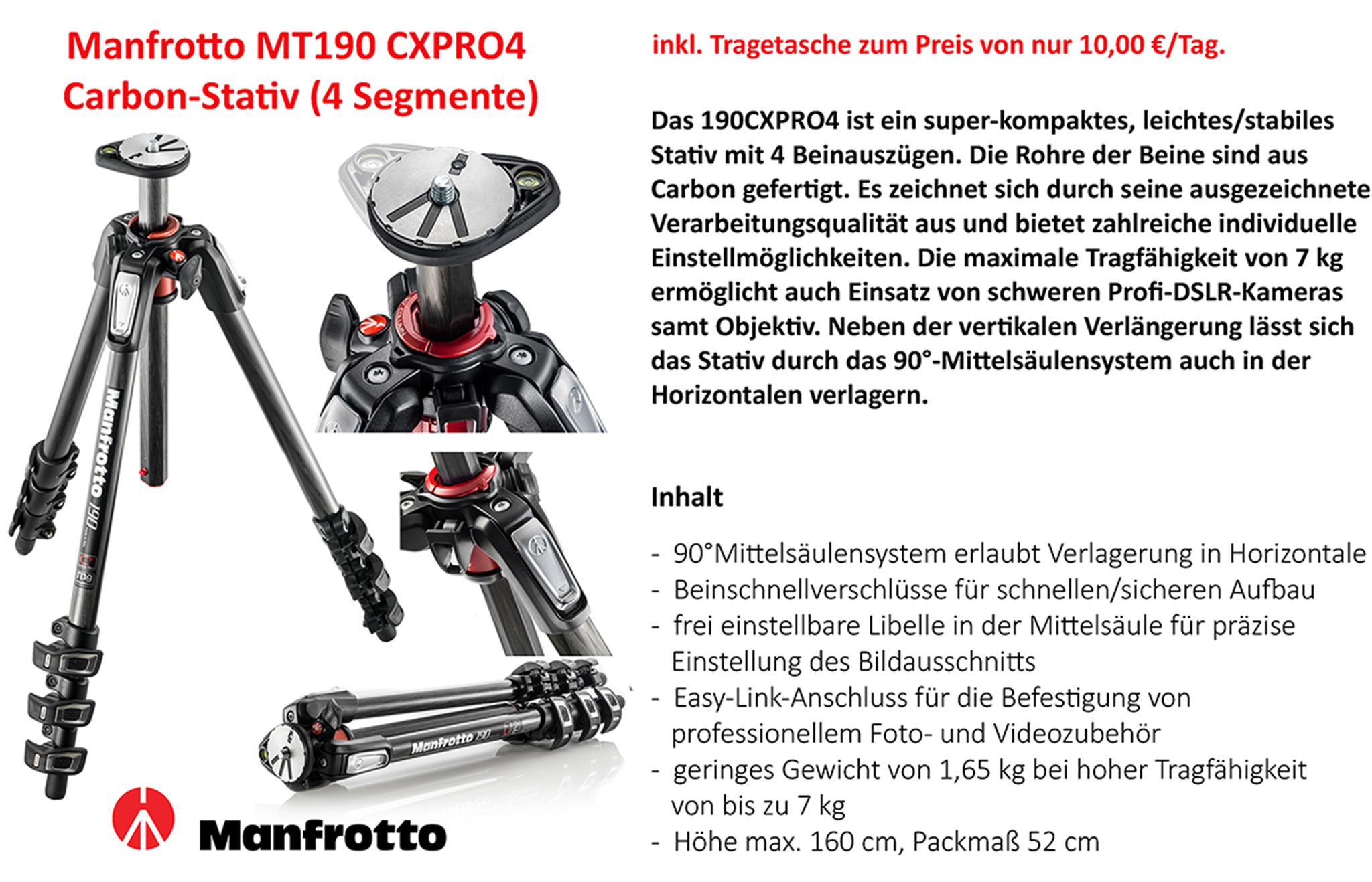 Manfrotto MT190XPRO4 Stativ - Andrea Ludwig Design Ihr ...