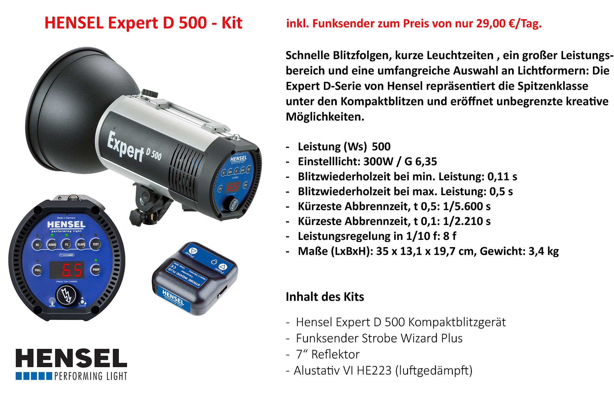 Hensel Expert D 500