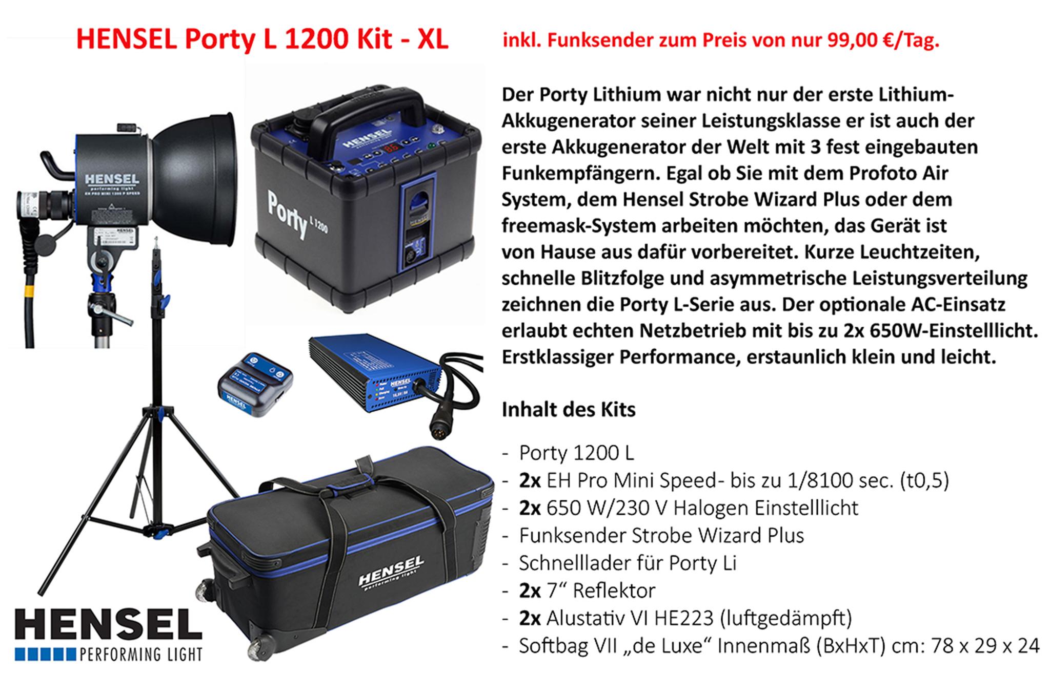 Hensel Porty L 1200 Kit - XL