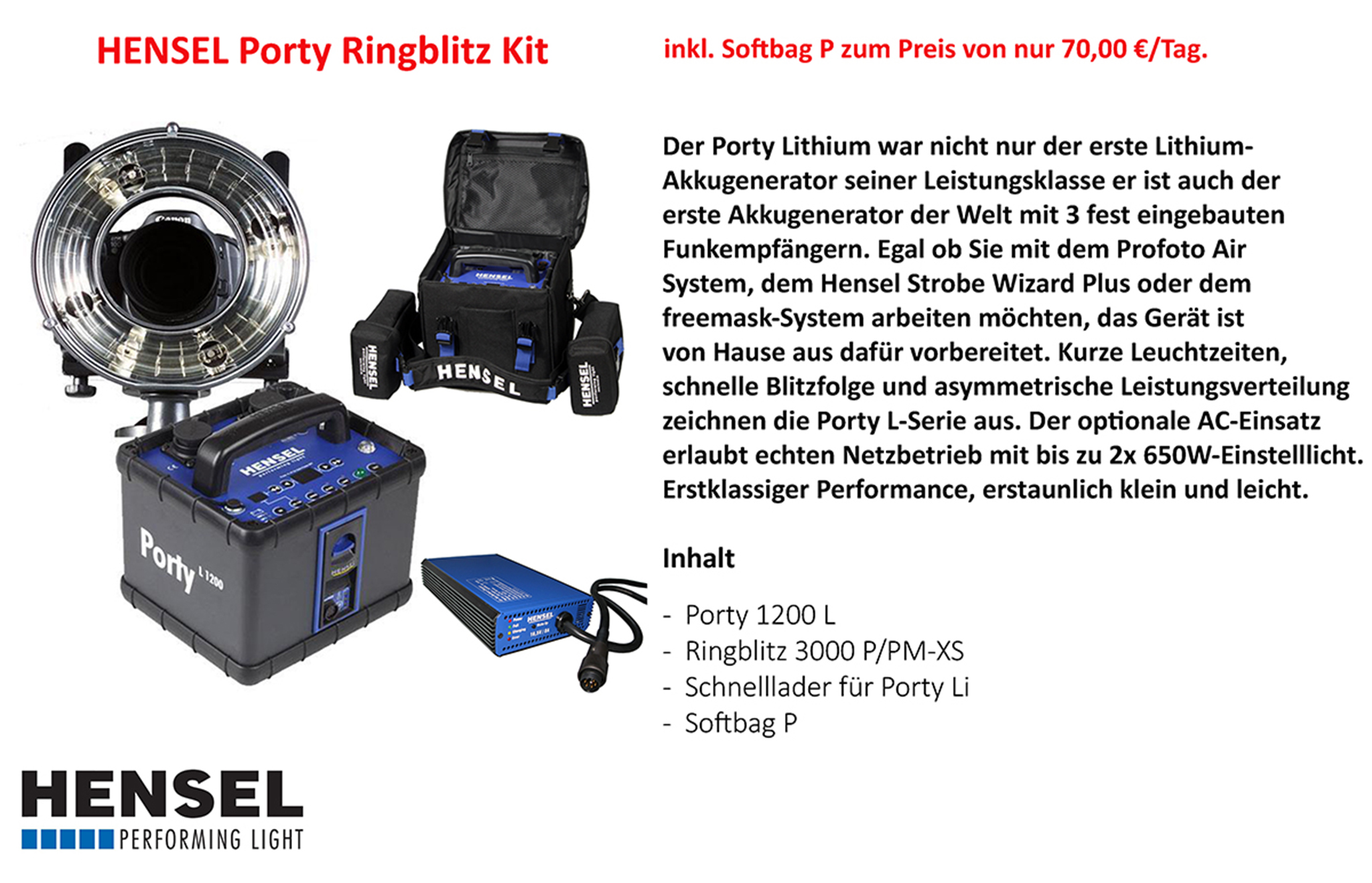 Hensel Porty / Ringblitz Kit