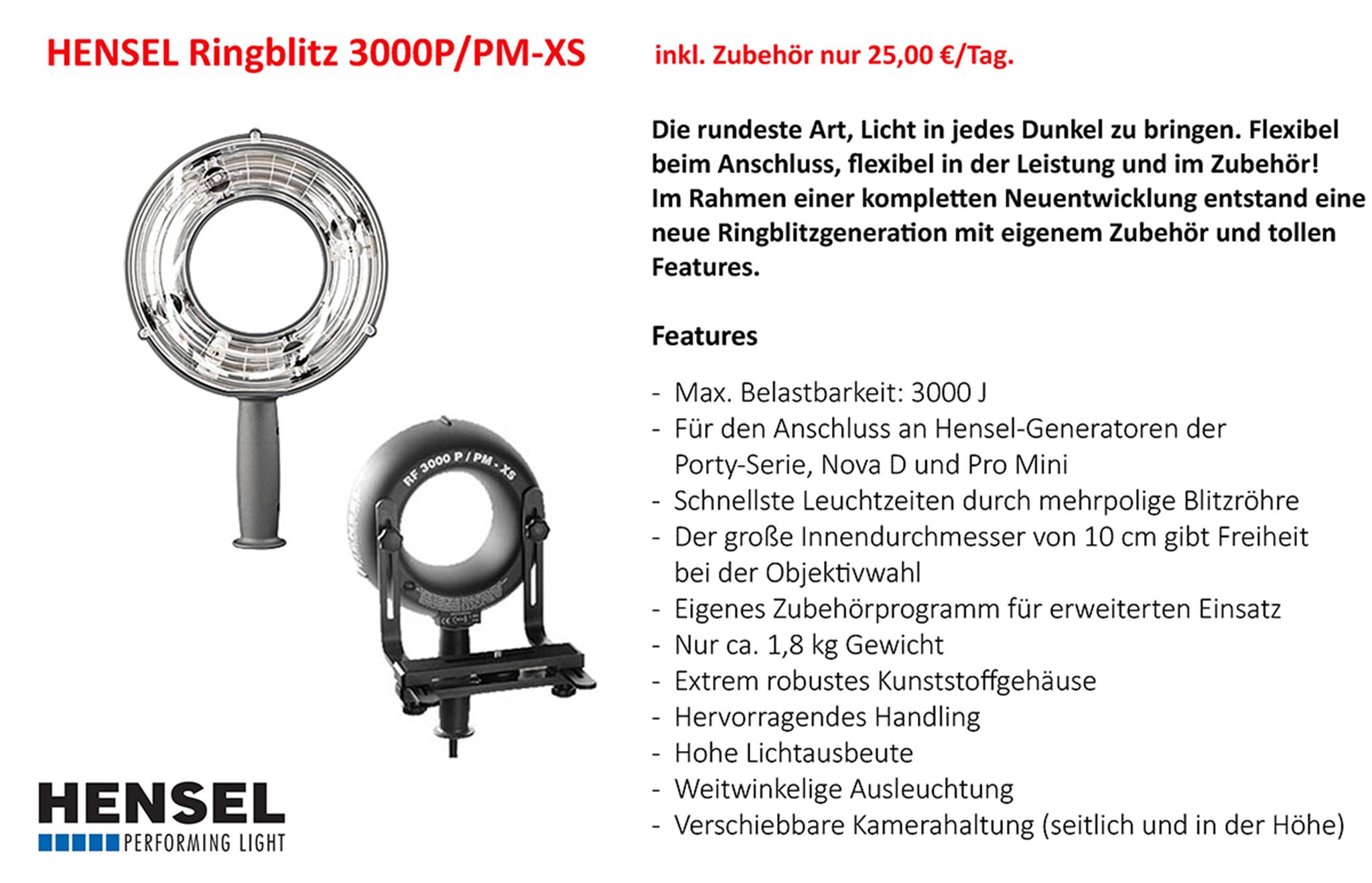 Hensel Ringblitz 3000P/PM-XS