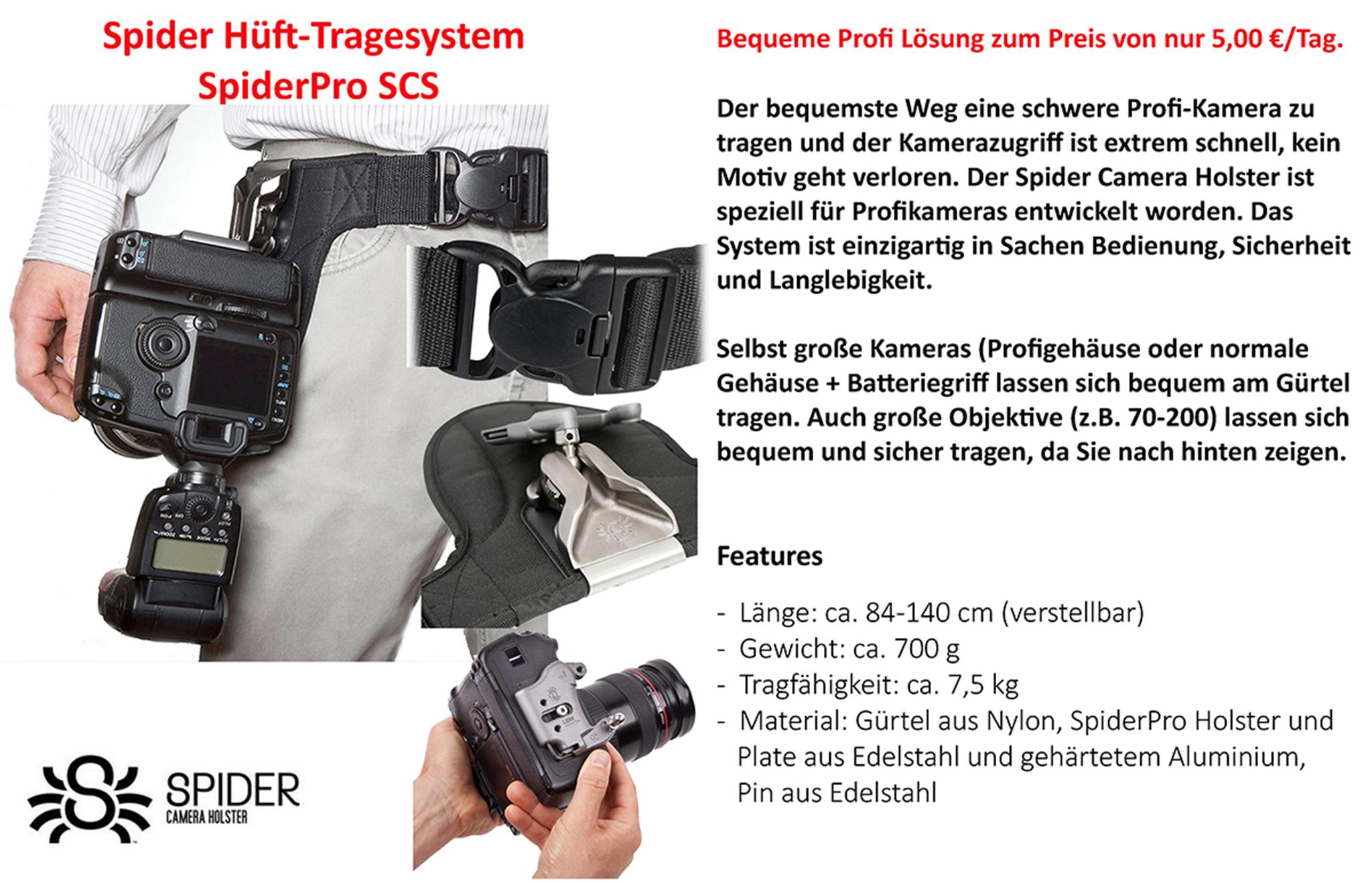 Spider Hüft-Tragesystem SpiderPro SCS