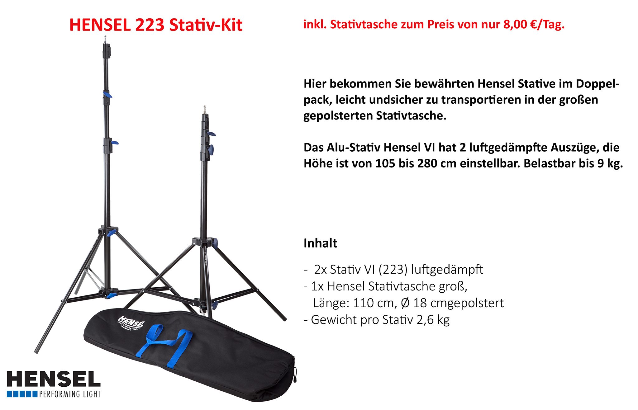 Hensel 223 Stativ-Kit
