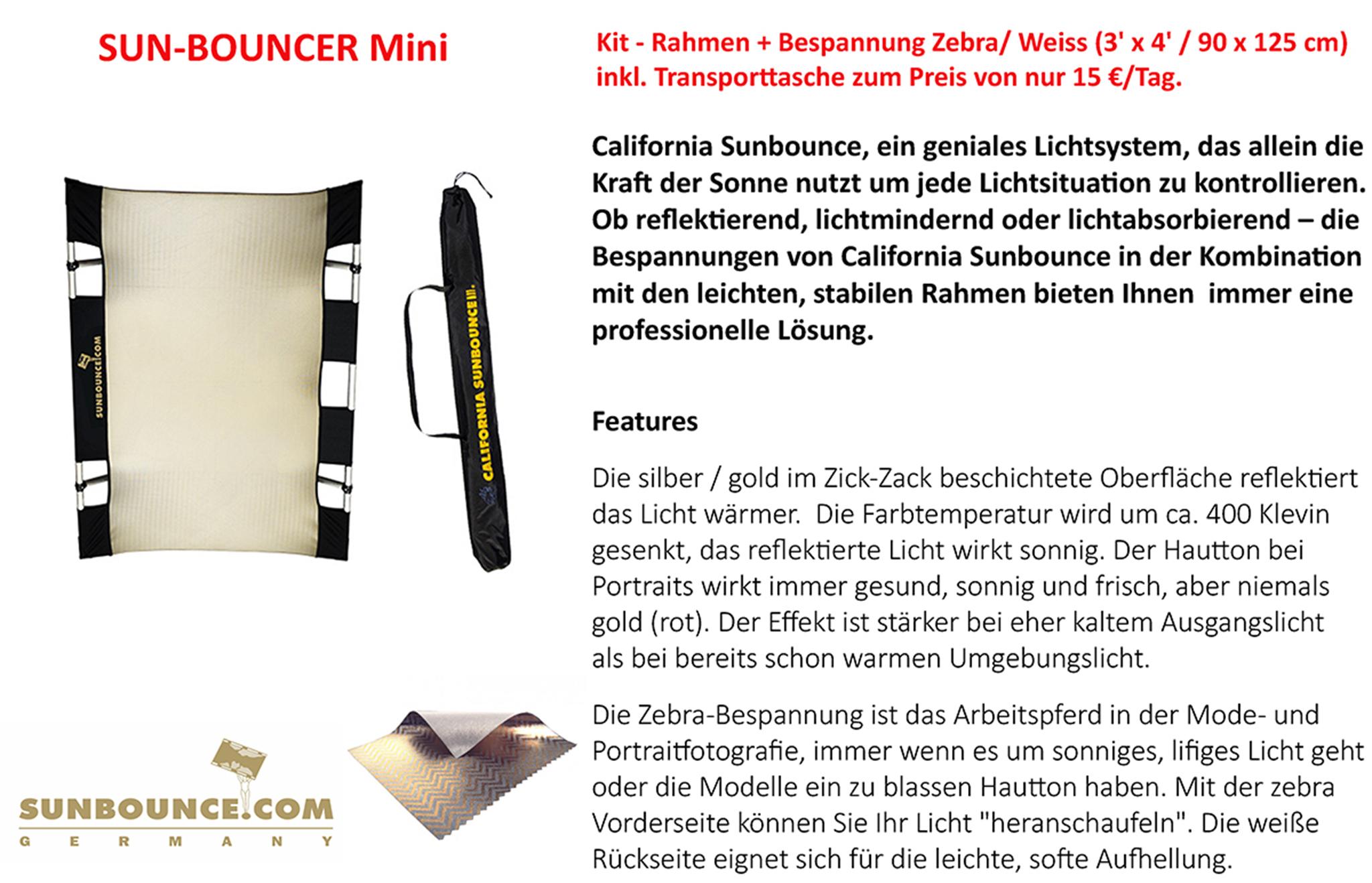 Sun-Bouncer Mini (Zebra/Weiss)