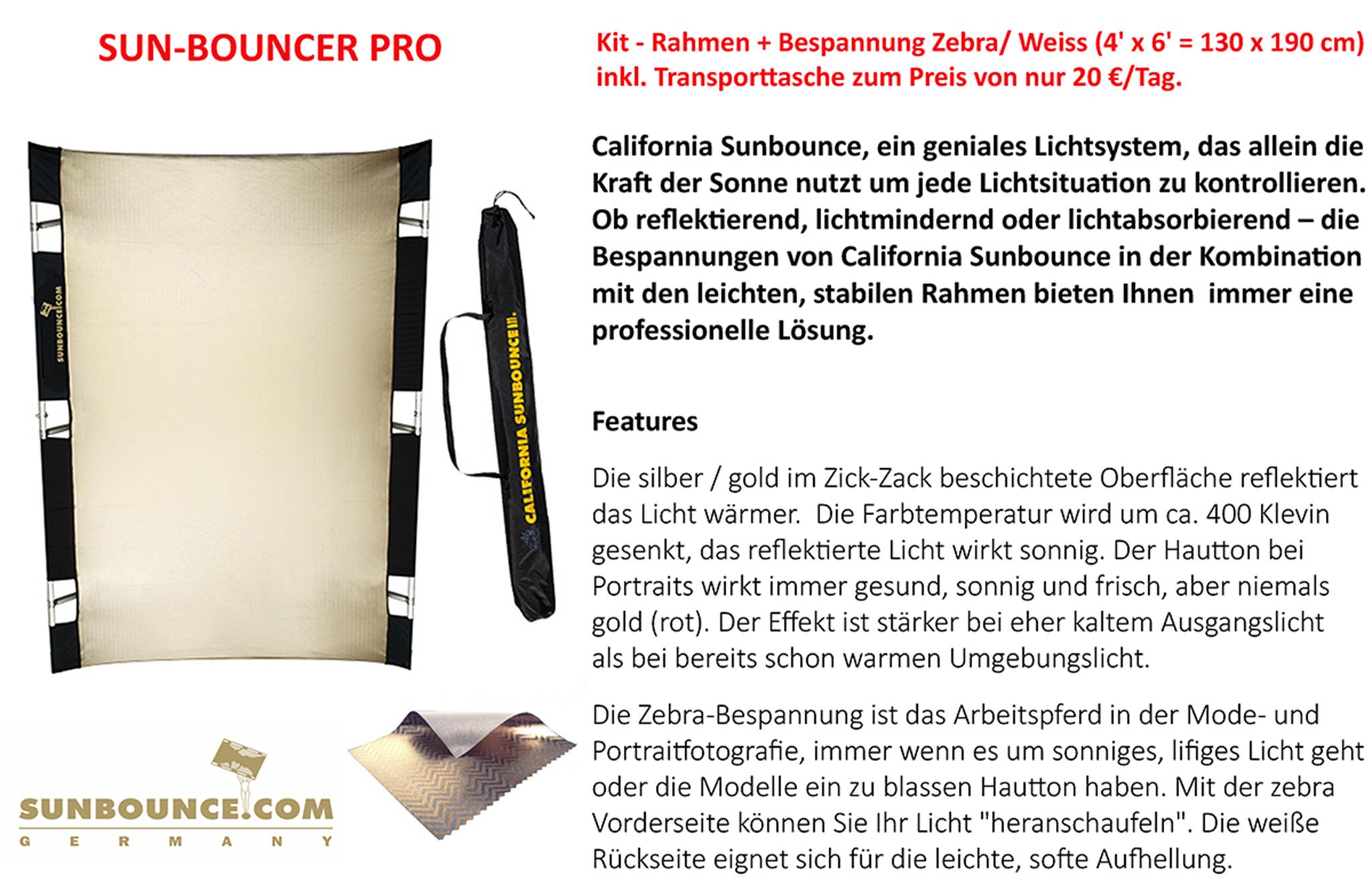 Sun-Bouncer Pro (Zebra/Weiss)