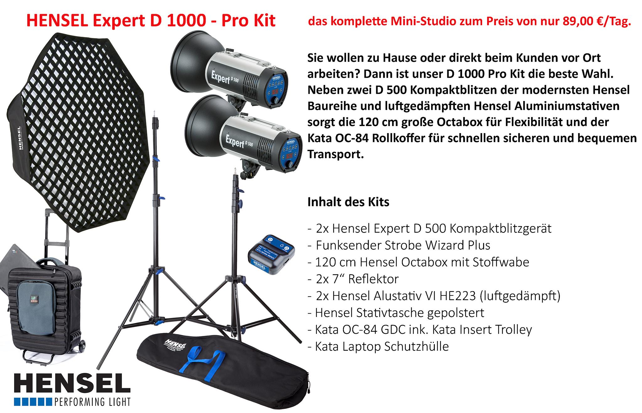 Hensel Expert D 1000 Kit Pro